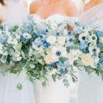 Bride Holding Wedding Bouquet Designed By Branch Floral Design In Charleston